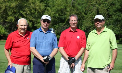 Member Duane Davis with John, Steve, and Tim Fisher