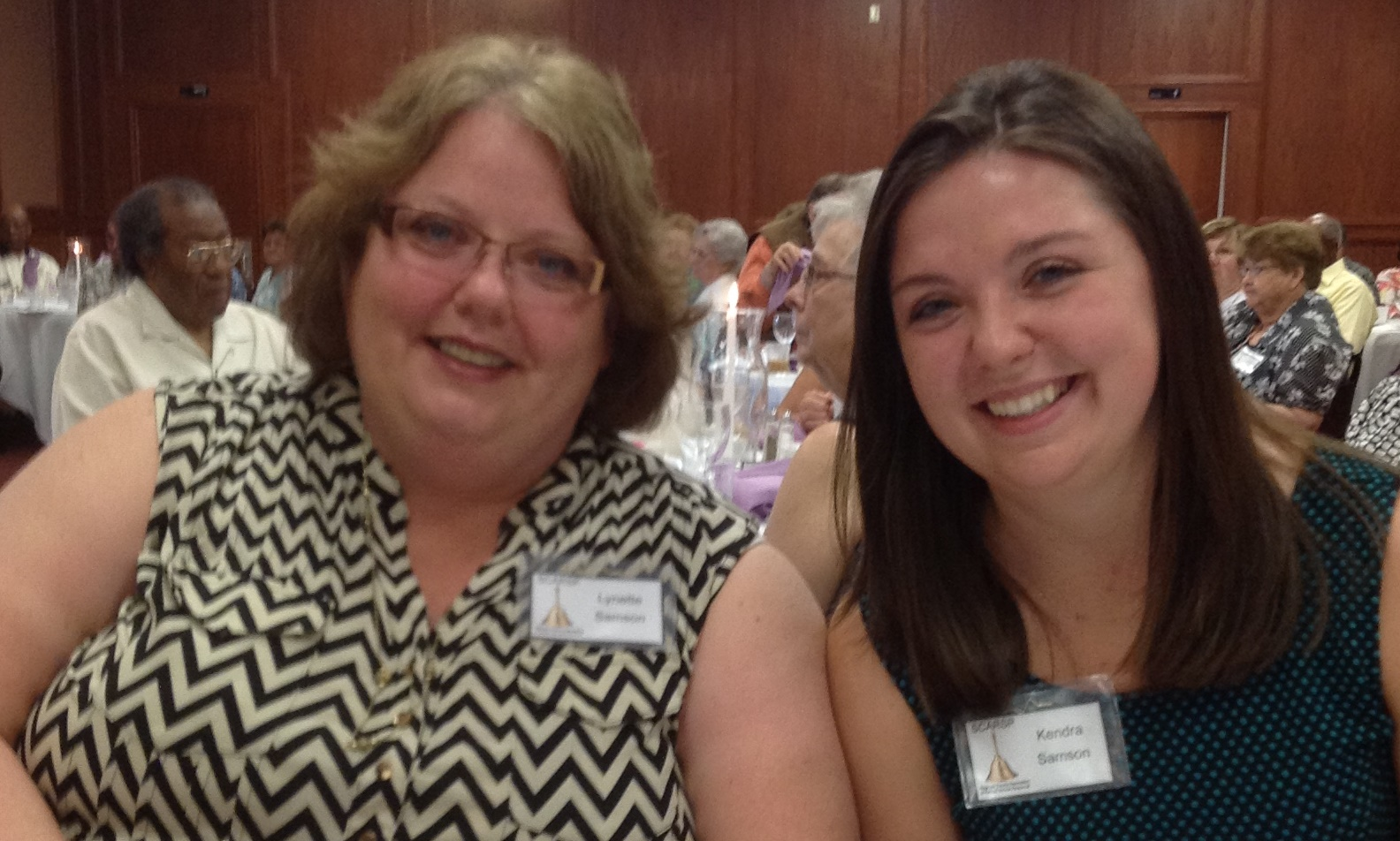2015 Scholarship recipient Kendra Samson with her mom Lynette Samson